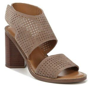 Franco Sarto Delores Tan Suede Heel Sandals